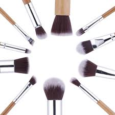 bamboo makeup brush set 11pcs onyx bunny
