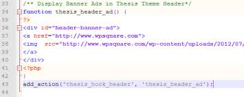 How to add Header Widget in Thesis to Display Banner Ads WPSquare Add Header Widget in Thesis to Display Banner Ads
