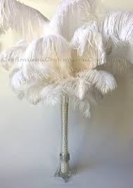 Eiffel Tower Vases Centerpieces Bulk 50 Piece 10 24 Inches White Ostrich Feather For Wedding