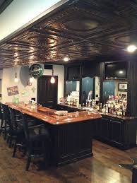 Black Ceiling Basement by Basement Pub Dig The Ceilings Fix Rehab Ideas For Next New