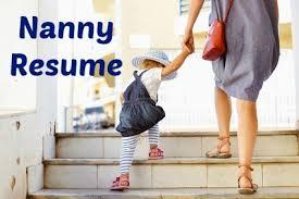 Resume For Nanny Job by Sample Nanny Resume