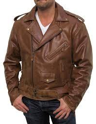 men s moto jacket men u0027s retro brown buffalo hide classic leather motorcycle jacket