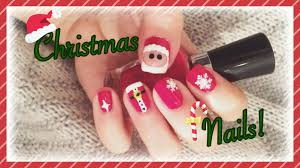 easy santa nail art design christmas tutorial 2015 youtube