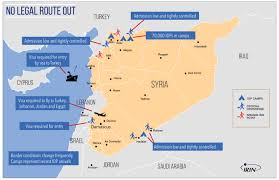 Jordan Country Map Irin No Way Out How Syrians Are Struggling To Find An Exit