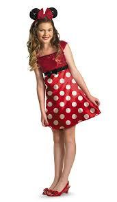 costumes halloween spirit disney minnie mouse red dress tween costume u2013 spirit halloween on