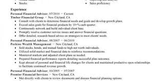 Financial Planner Resume Sample by Financial Aid Advisor Cover Letter