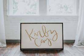 large nursery name sign for baby bedroom above crib name