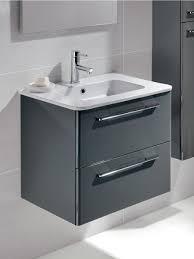 ramia gloss grey 60cm wall hung vanity unit 2 drawer