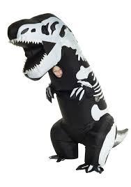 Kids Skeleton Halloween Costumes Inflatable Skeleton T Rex Costume For Kids