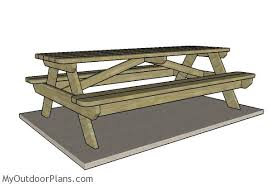 Free Wooden Picnic Table Plans by Best 8 Ft Wood Picnic Table 8 Foot Picnic Table Plans