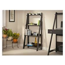 Ladder Bookshelf Pottery Barn Furniture Mall Ladder Bookcase In White With 3 Tier For Home