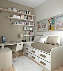 uncommon day bed under nice picture beside cute book storage in