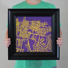 Ecu Campus Map East Carolina University Campus Map Art City Prints