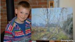 Quase milionário, pintor de 9 anos ganha retrospectiva