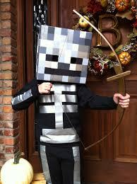 Kids Skeleton Halloween Costume by Homemade Minecraft Skeleton Costume Halloween Pinterest