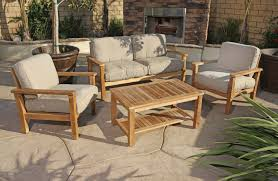 How To Clean Outdoor Patio Furniture by Patio Magnificent Teak Wood Patio Furniture Set Designs Teak