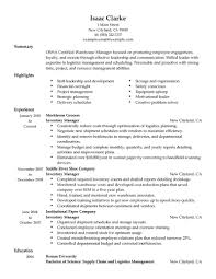 Resume Verbiage Best Inventory Manager Resume Example Livecareer