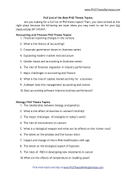 thesis topics   Template Template