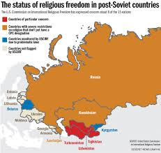 Religions Of The World Map by The Fate Of Religious Freedom In The Former Ussr 25 Years After