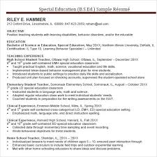 Education On Resume Format  teacher resume skills section free     Littledov com Examples Of Special Education Resumes Resume Sample Education Resume Cover  Letter Physical Education Teacher Resume Sample