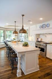Kitchen Peninsula With Seating by Best 25 Large Kitchen Island Ideas On Pinterest Large Kitchen