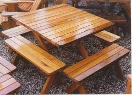 Building Plans For Picnic Table Bench by Best 25 Picnic Tables Ideas On Pinterest Diy Picnic Table