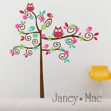 Bedroom Wall Decals Trees Swirl Wall Decals Tree Nursery Vinyl Wall Art Tree With Owls