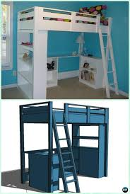 Kids Loft Bed With Desk How To Build A Loft Bed With A Desk - Kids bunk bed with desk
