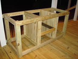 Design Your Own Outdoor Kitchen Well The Cabinet Build Begins My Table Cabinet Build Grill Dome
