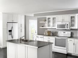 kitchen remodel with white appliances home design ideas