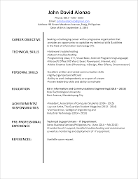 service resume template call center representative sample resume     chiropractic    Stunning Simple Job Resume Template Examples Of Resumes