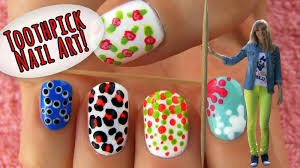toothpick nail art 5 nail art designs u0026 ideas using only a