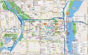 Downtown Dallas Map by Philadelphia Downtown Map