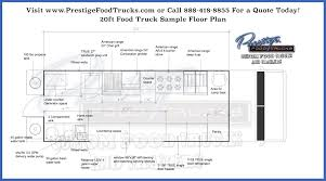 custom food truck floor plan samples prestige custom food truck