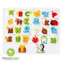 จิ๊กซอว์ตัวอักษรไม้ A-Z 26 ตัว พร้อมบัตรคำศัพท์ - สินค้าแม่และเด็ก ...