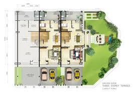 3 storey terrace ground floor plan jpg 2339 1654 site plan