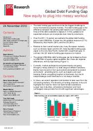 DTZ Distressed Debt Report   November
