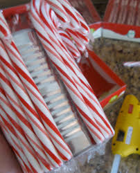 candy cane vase candy cane vase vase ideas table centerpiece
