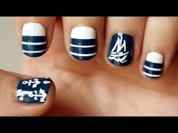 nautical sailboat nail art design video tutorial for these