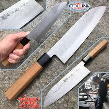 takefu village santoku knife 180mm by mr kanehiro kintaro