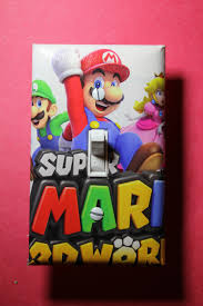 Super Mario Home Decor by Super Mario World 3d Light Switch Plate Cover Gamer Room Home