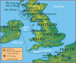Map Of Ireland And England Usf Alumni Celtic Lands Cruise
