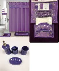 22pc bath accessories ceramic set beverly purple bathroom rugs