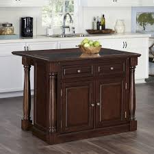 monarch cherry kitchen island with storage 5007 945 the home depot