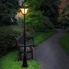Patio Lights Outdoor by Changing Solar Power Light Led Post Outdoor Lighting Powered