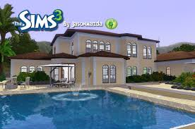 Best Home Designs by The Sims 3 House Designs Mediterranean Mansion Youtube