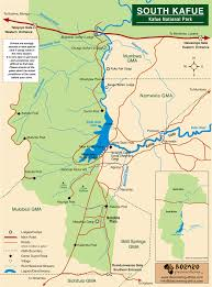 Africa Map Game by Kafue National Park South Map U2022 Mappery Roy U0027s Rambles Pinterest