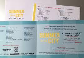 folded invitation city harvest u0027s summer in the city on behance