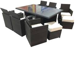 brayden studio dutil tuckaway 11 piece dining set with cushions