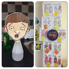 Catch a sneeze activity  Squirt bottle with clip art face put nozzle through nose and